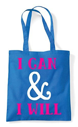 And Sapphire Motivational Can Will Shopper Bag Statement Tote I OPHBxTA