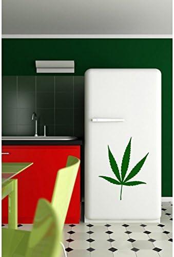 TATOUTEX Pegatinas de Hoja de Cannabis–Bordeau, L 90cm x H 117cm