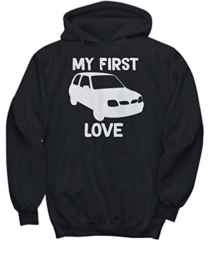 (Nissan Micra 1999 My First Love Small Car Hoodie - Black - X Large)