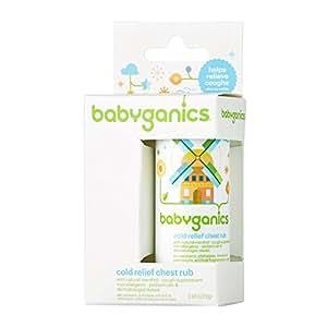 Babyganics Cold Relief Chest Rub, 0.64 oz