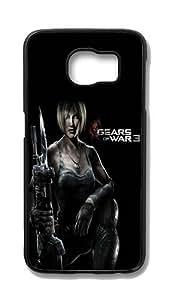 Samsung Galaxy S6 Customized Unique Hard Black Case Gears Of War 3 Case S6 Cover PC Case