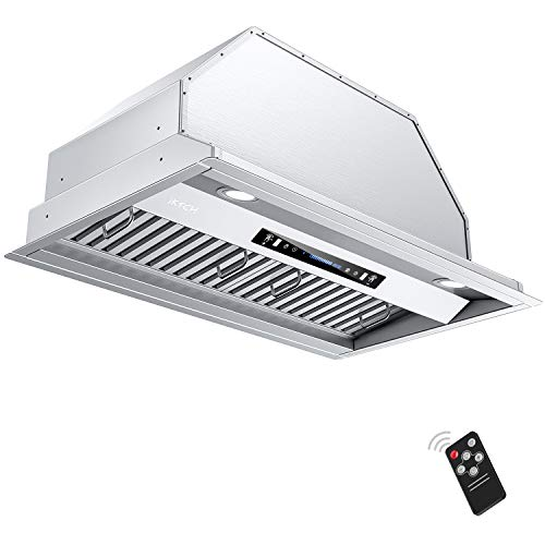 IKTCH 36 inch Built-in/Insert Range Hood 900 CFM, Ducted/Ductless Convertible Duct, Stainless Steel Kitchen Vent Hood…