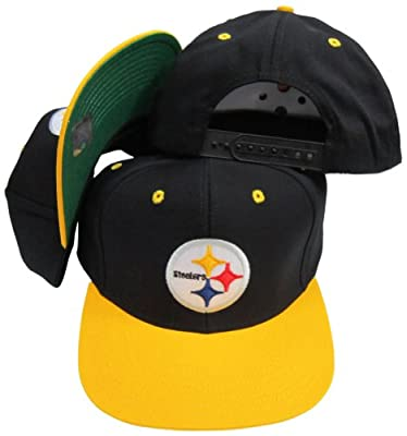 Reebok Pittsburgh Steelers Black/Gold Two Tone Plastic Snapback Adjustable Plastic Snap Back Hat/Cap