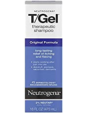 Neutrogena T/Gel Therapeutic Shampoo Original Formula, Anti-Dandruff Treatment for Long-Lasting Relief of Itching and Flaking Scalp as a Result of Psoriasis and Seborrheic Dermatitis, 16 Fl Oz