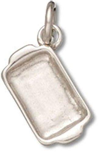 (Sterling Silver 3D Kitchen Cooks Casserole Baking Dish Cooking Charm)