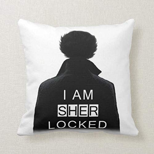 Amazon.com: Pillow Sherlock Holmes Square Pillow Decorative ...
