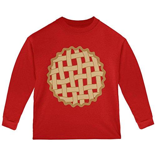 Halloween Lattice Pie Costume Strawberry Cherry Toddler Long Sleeve T Shirt Red 2T