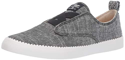 (Roxy Women's Shaka Elastic Platform Sneaker Shoe, Black, 6.5)