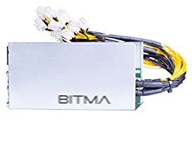 1600W Power Supply Replacement for Bitmain AntMiner L3+ S9 T9 D3(Wide Voltage Design:110V-1200W,220V-1600W)