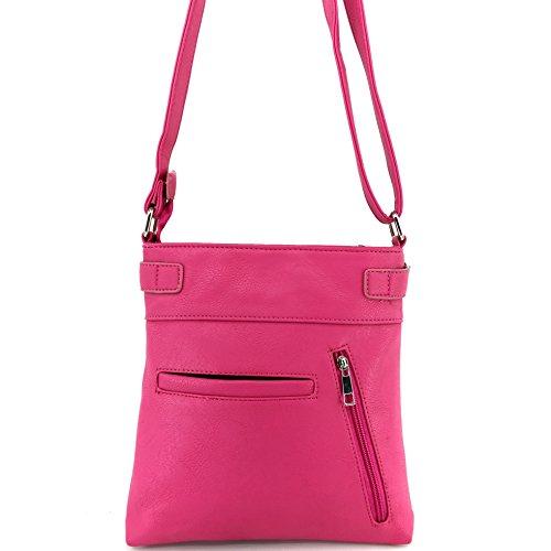 De Carry Messenger Bling Fleur West Glass Concealed Shiny Body Hot Lis Cross Pink Justin Handbag Rhinestone Gleaming Purse wPznqSqEI