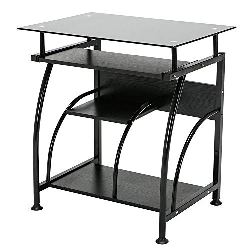 Price comparison product image Desk Workstation Computer Home Office Executive Gaming Table Black