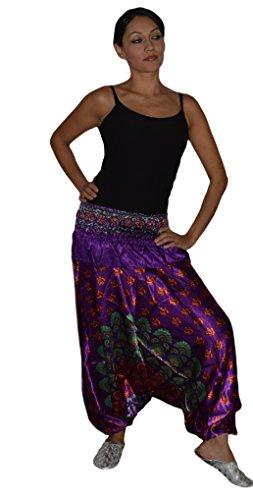 Moroccan Harem Pants Zumba Yoga Comfortable Satin Elastic Waist Small to Large