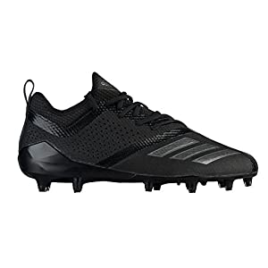 adidas Performance Men's Adizero 5-Star 7.0 Football Shoe, Black/Night Metallic/Night Metallic, 9.5 M US