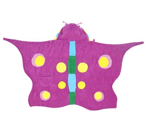 Kidorable Butterfly Infant Towel, Purple, 0-3 - Beach Towel Butterfly