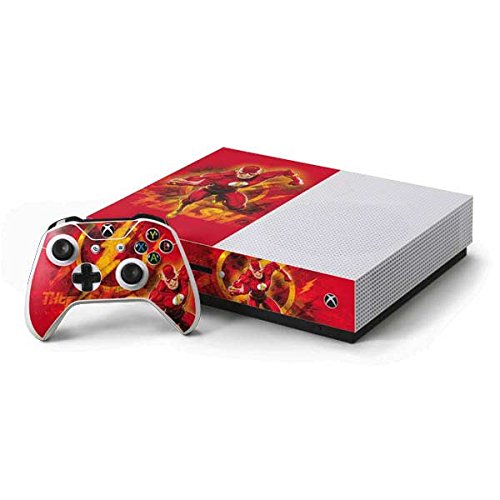 Flash Xbox One S Console and Controller Bundle Skin - Ripped Flash | DC Comics X Skinit Skin
