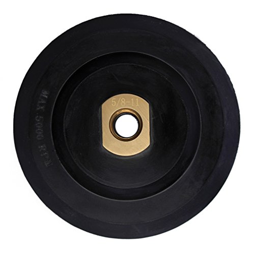 (5 Inch Rubber Backer Pad/Hook and Loop Backing Pad with Arbor 5/8