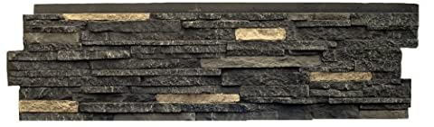 NextStone Stacked Stone Panel Bedford Charcoal 5 Pack - Faux Stone Siding
