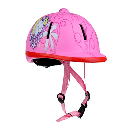 Baoblaze Adjustable Horse Riding Helmet Equestrian Helmet for Kids / Toddlers (48-54cm) - Snow Pink