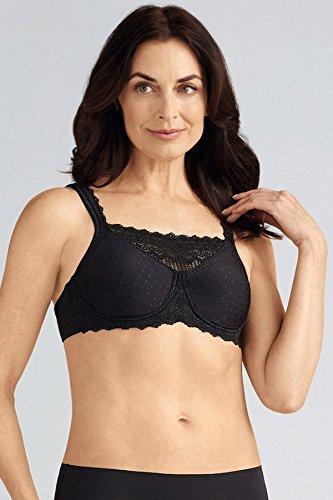 Amoena Nylon Bra - Amoena Women's Dana Camisole Wire-Free Bra, Black, 36D