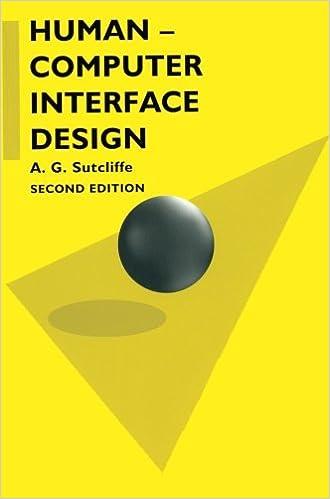Human Computer Interface Design Macmillan Computer Science S Amazon In Sutcliffe A G Books