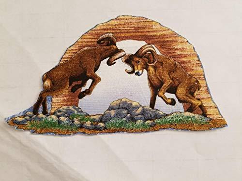 (Desert Animals, Rams,Quails,Horses,Rodadrunner,Cougar Iron on Appliques #36)