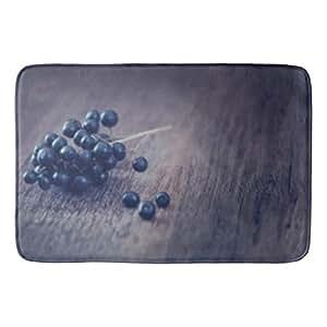 Custom diseño de animales sonriente (11) Fashion porche alfombra antideslizante alfombra de baño 24x 36inch (un lado)