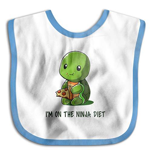 Turtles I'm On The Ninja Diet Baby Drool Bibs Baby Skin Wrap Bib Soft -
