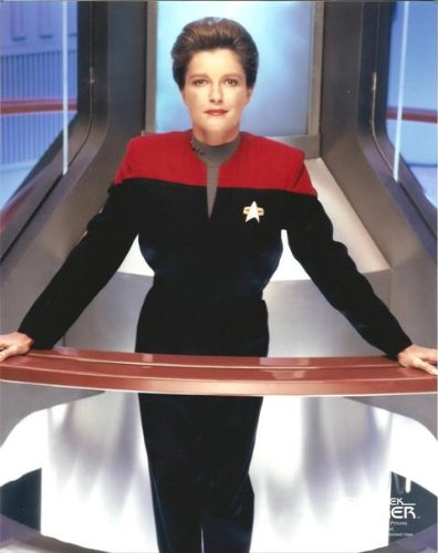 Kate Mulgrew as Captain Janeway from Star Trek: Voyager in uniform standing by warp core 8 x 10 photo by Kate...