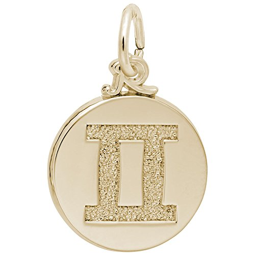 Gold Plated Gemini Charm, Charms for Bracelets and Necklaces