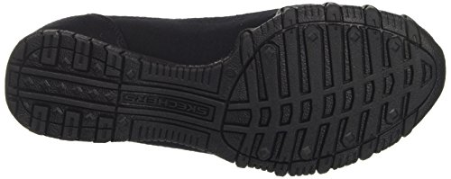 WoMen Skechers Lounger Bikers Mocassins Blk Parent Black ZwwCrndq