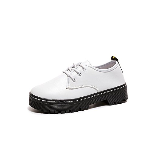 Tacco per EU39 UK6 sandali aperta Scarpe molla bianco CN39 a nero ZHZNVX bianco Comfort Bowknot cuneo PU US8 punta abito WXnxccvC