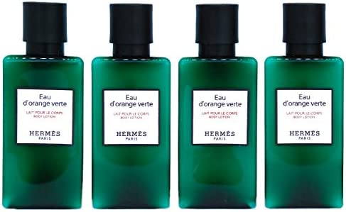 Hermès Eau d'Orange Verte Luxury Body Lotion (Lait Pour Le Corps) In Bubble Bag - Set Of 4 X 1.35 Ounce/40 ML Bottles, Total 5.4 Ounce/160 ML from Hermes Paris