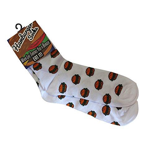 Hamburger Socks - Funky Socks for Men & Women - Hamburger Gifts - BBQ Gifts - Unisex (Hamburger Gifts)