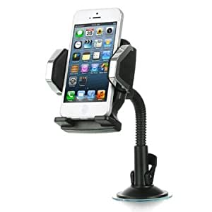 Bloutina Importer520 Car Kit Flexible gooseneck Stand Holder Mount for MetroPCS LG Connect 4G MS840 - Flexible