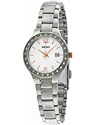 Seiko SUR769 Womens Stainless Steel Silver Bracelet Band Silver Dial Watch by Seiko Watches
