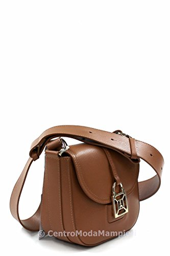 Patrizia Pepe Glam Leather Easy Lock Sac à bandoulière brun