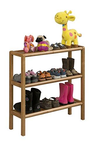 New Ridge Home Goods 2207-CHS Abingdon Solid Birch Wood Console/Stand/Shoe Rack/Bookcase, One Size, Antique - Rack Shoe Birch