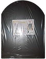 sol noir mat de protection pour poêle à bois et à granulés cm. plates-formes 60x80
