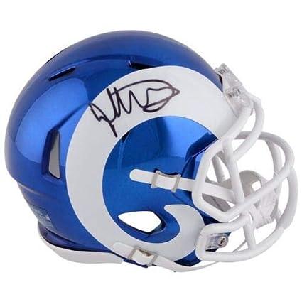 Aaron Donald Los Angeles Rams Signed Autograph Speed Mini Helmet Steiner Sports Certified