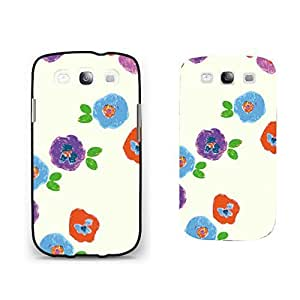 Pastel Colorful Floral Design Samsung Galaxy S3 Case Cover Simple Watercolor Draw Flowers Print Phone Case Skin for Teen Girls