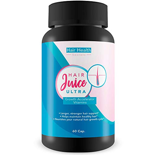 Hair Juice Ultra Growth Accelerator Vitamins - Longer Stronger Hair Support - Helps Maintain Healthy Hair - Nourishes Your Natural Hair Growth Cycle - Hair Juice Accelerator Ultra Growth Blend