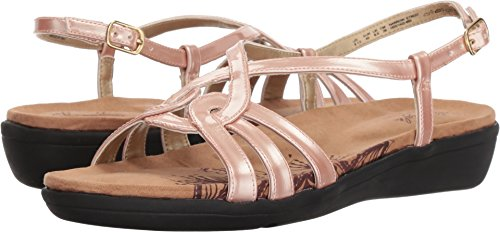 1ec5e6a63d8 Soft Style by Hush Puppies Women s Patrese Sandal Rose Cloud Pearlized  Patent 06.0 ...