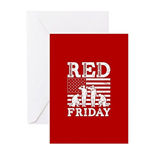 CafePress RED Friday Soldiers Greeting Card, Note Card, Birthday Card, Blank Inside Glossy
