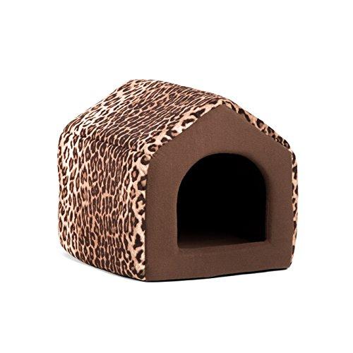 Best Friends by Sheri 2-in-1 Pet House-Sofa in Zoo, Leopard Brown, Small, 15