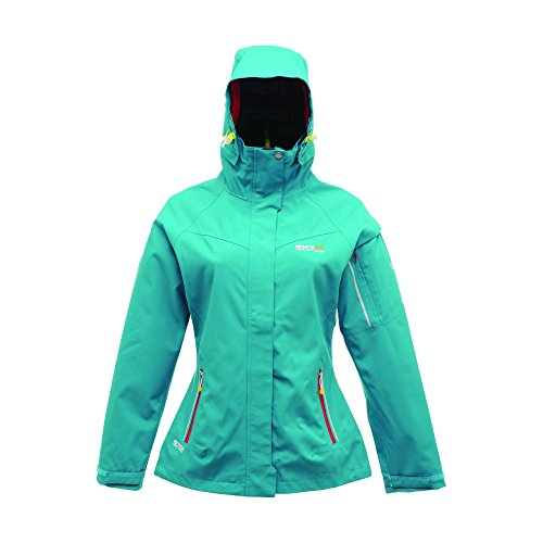 Enamel Ladies Rww189 Waterproof Green Coat Hooded Regatta Maryam Breathable awxdqpp8