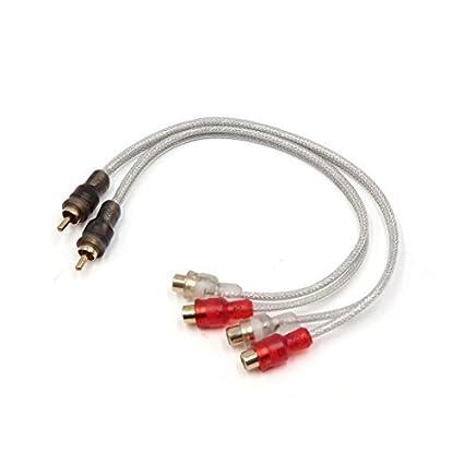 Audio Vehículo DealMux coche del divisor del RCA cable 1 macho a 2 Mujer Empalme Adaptador