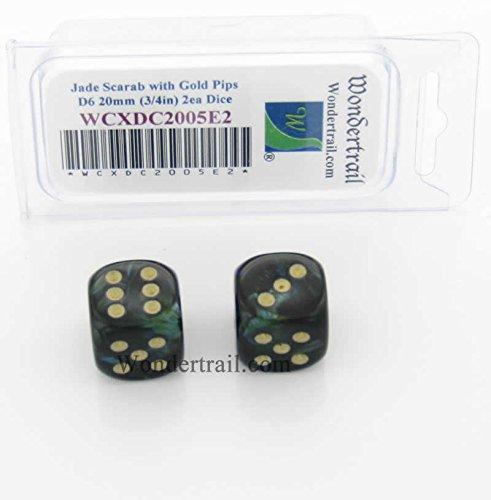 品質満点! WCXDC2005E2 Jade Scarab Dice with Gold D6 Pips 20mm Dice (3 Gold/4in) D6 Pack of 2 B01J7YV6H0, 風景カレンダーの写真工房ストア:e5136ffe --- arianechie.dominiotemporario.com