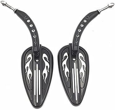 Black Skull Side Mirrors For Harley Night Train FXSTB Springer Softail FXSTS