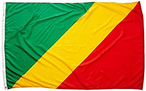 Annin Flagmakers 190881 Nylon SolarGuard Nyl-Glo Congo Flag, 4 x 6'