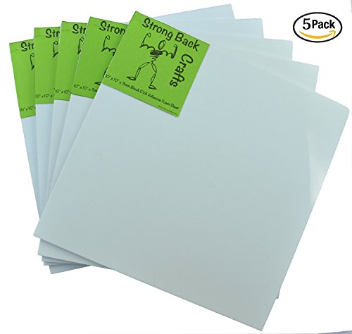Craft Foam Costumes (White 6mm thick Self-stick Adhesive 10